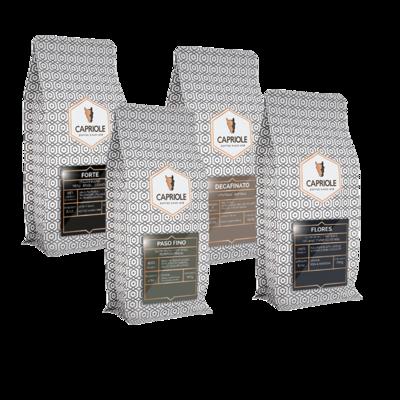 Capriole Proefpakket Koffiebonen 4x250 gram